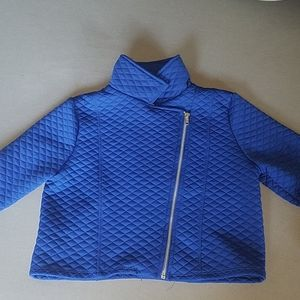 Girls quilted textured jacket